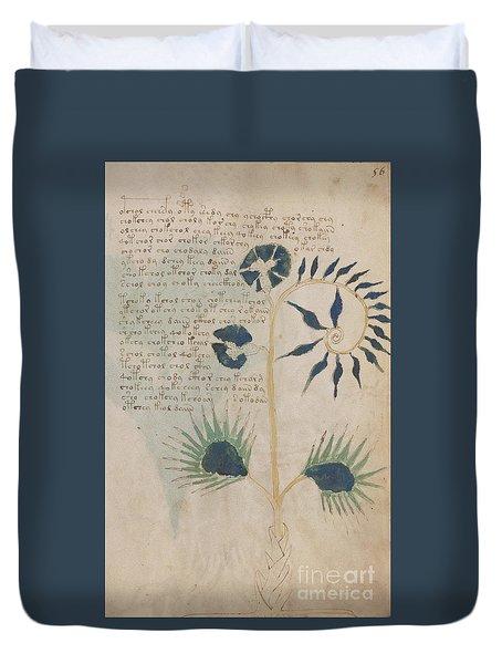 Voynich Flora 12 Duvet Cover