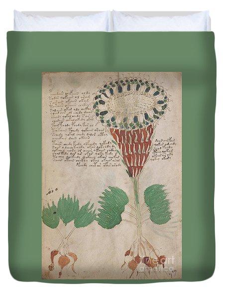 Voynich Flora 15 Duvet Cover