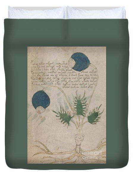 Voynich Flora 20 Duvet Cover