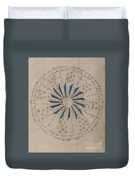 Voynich Manuscript Astro Rosette 1 Duvet Cover
