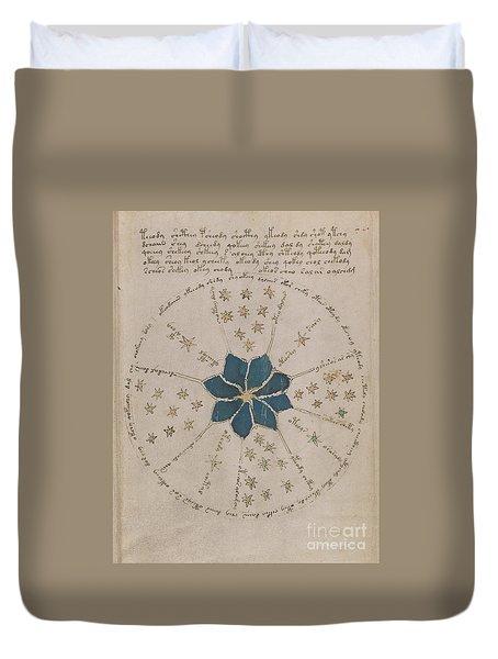 Voynich Manuscript Astro Rosette 2 Duvet Cover