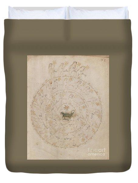 Voynich Manuscript Astro Scorpio Duvet Cover