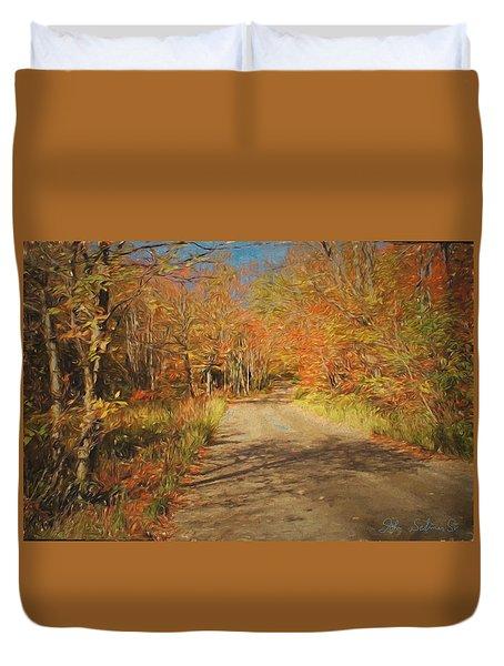 Vt.rte. Fifty Eight Hazen  Notch Duvet Cover