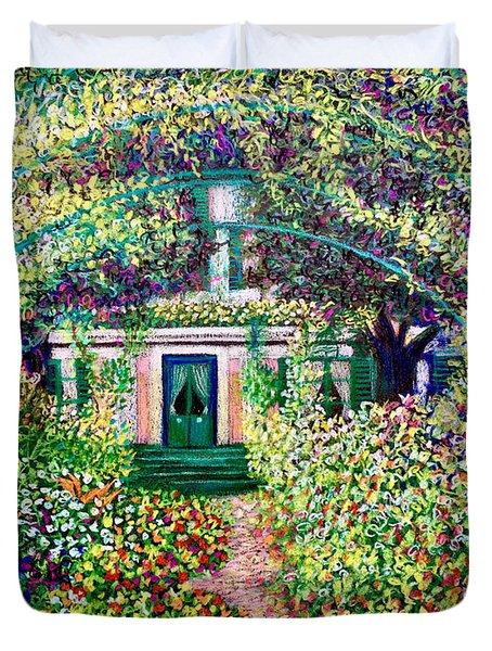 Vue Du Jardin De Monet Duvet Cover
