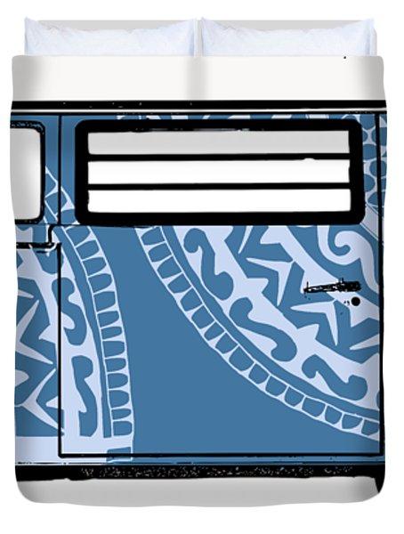 Vw Blue Van Duvet Cover