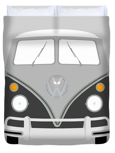 Vw Bus Grey Duvet Cover