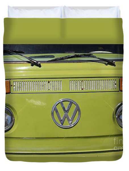 Duvet Cover featuring the photograph Vw Bus Vintage by The Art of Alice Terrill