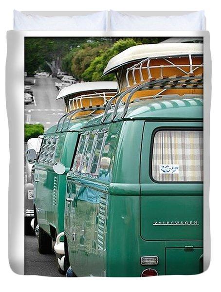 Vw Buses #carphotographer #vw #vwbus Duvet Cover