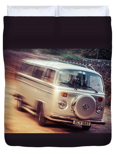 Vw Camper On A Kodak Moment Duvet Cover
