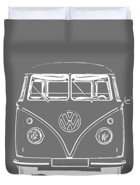 Vw Van Graphic Artwork Tee White Duvet Cover