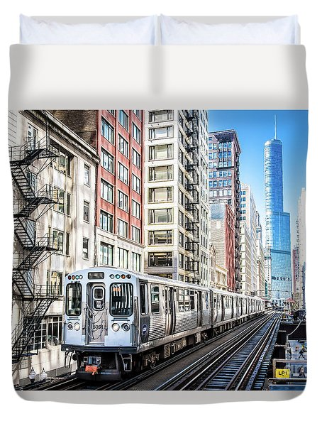 The Wabash L Train Duvet Cover