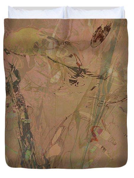 Wabi-sabi Ikebana Original Mashup Duvet Cover