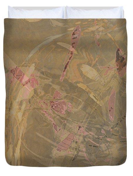 Wabi-sabi Ikebana Symphony In Taupe Duvet Cover