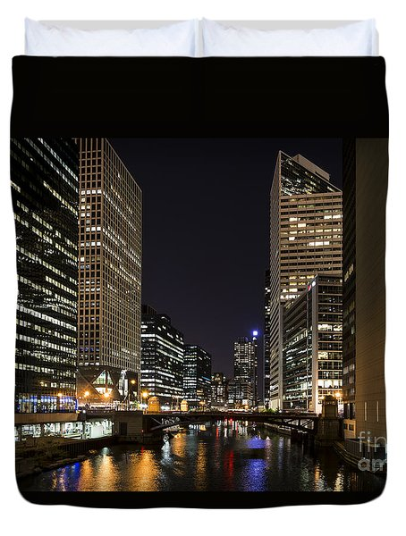 Duvet Cover featuring the photograph Wacker Avenue by Andrea Silies