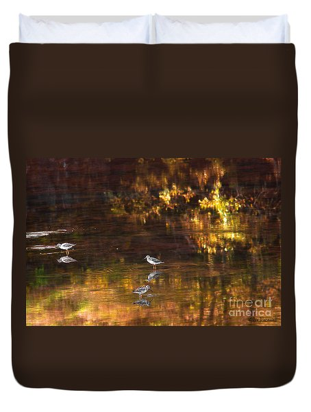Wading In Light Duvet Cover by Steve Warnstaff