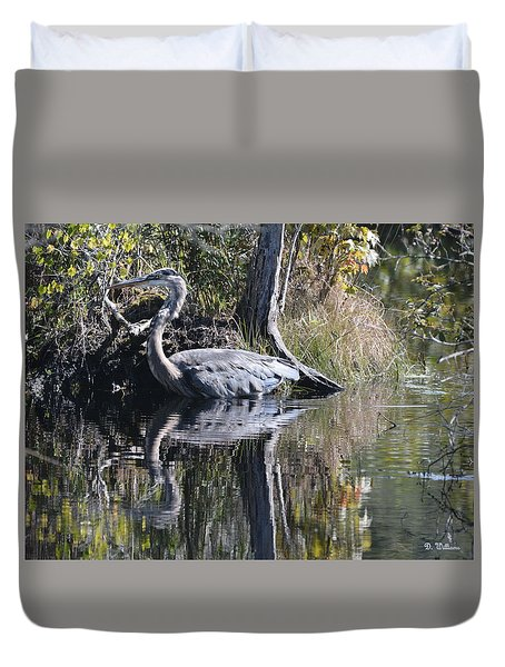 Wading In The Wetlands Duvet Cover