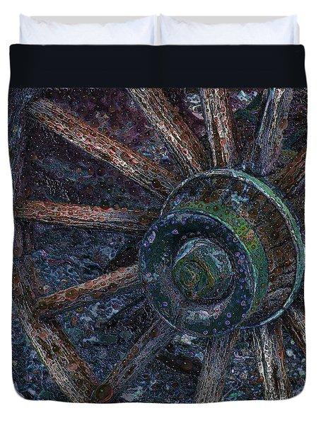 Wagon Wheel Duvet Cover by Stuart Turnbull