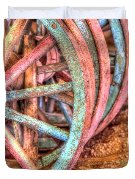 Wagon Wheels Duvet Cover