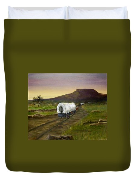 Wagons West Duvet Cover by Sheri Keith