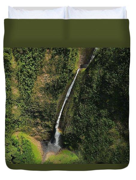 Wai'ilikahl Falls Rainbow Reflection Duvet Cover