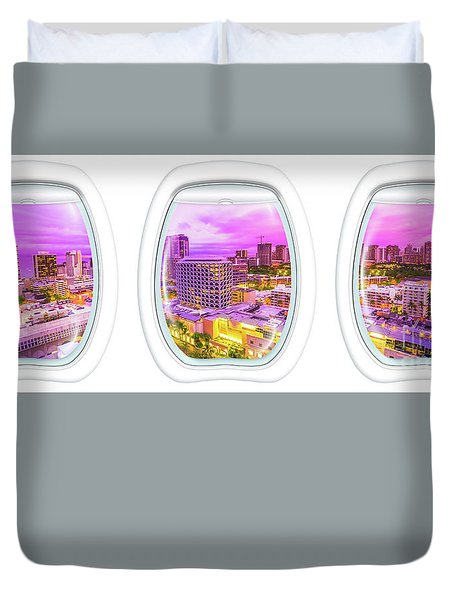 Waikiki Porthole Windows Duvet Cover