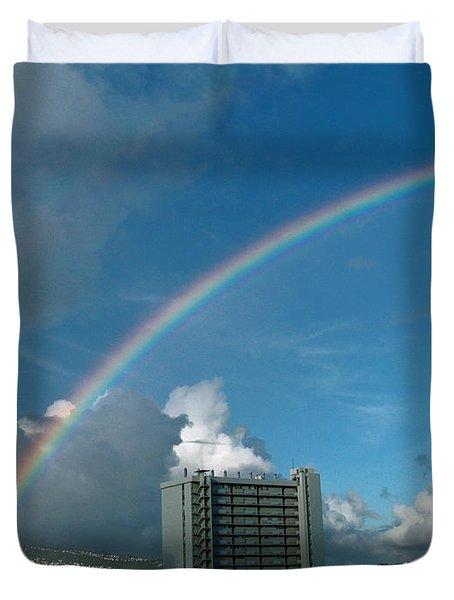 Waikiki Rainbow Duvet Cover