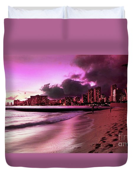 Waikiki Twilight Duvet Cover