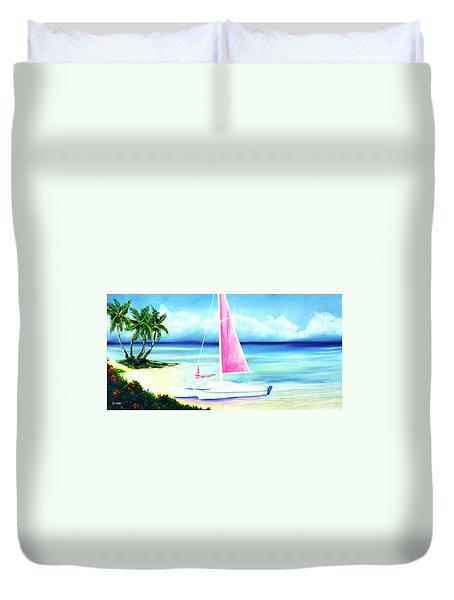 Waimanalo Beach #187 Duvet Cover by Donald k Hall