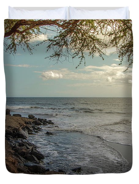 Waimea Bay Sunset Duvet Cover