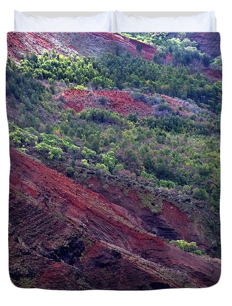 Duvet Cover featuring the photograph Waimea Canyon II by Kenneth Campbell