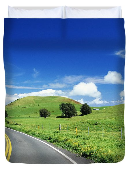 Waimea Ranch Land Duvet Cover by Bob Abraham - Printscapes
