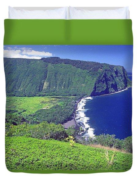 Waipio Valley, Big Island, Hawaii Duvet Cover
