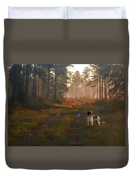 Wait Up Duvet Cover by Laura Ragland