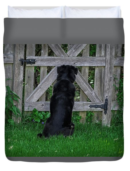 Waiting At The Gate Duvet Cover