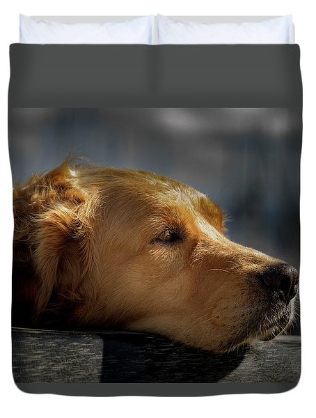 Waiting Dog Duvet Cover