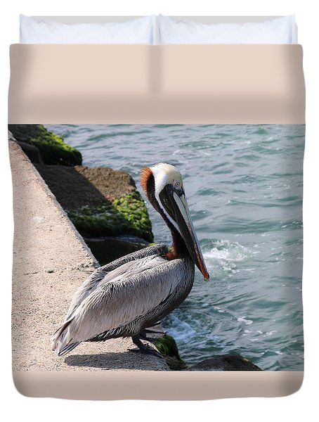 Waiting For A Fish - 2 Duvet Cover