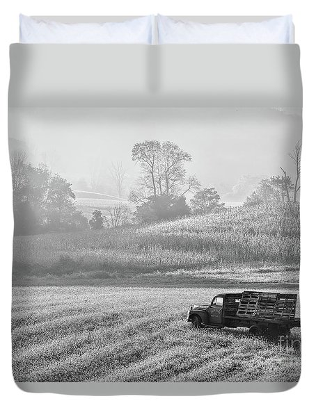 Waiting For A Load Duvet Cover