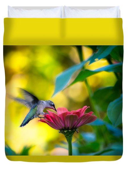 Waiting For Butterflies Duvet Cover