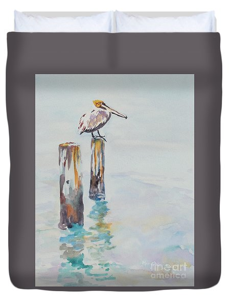 Waiting For Lunch Duvet Cover by Mary Haley-Rocks