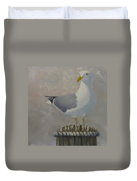 Waiting For Lunch Duvet Cover