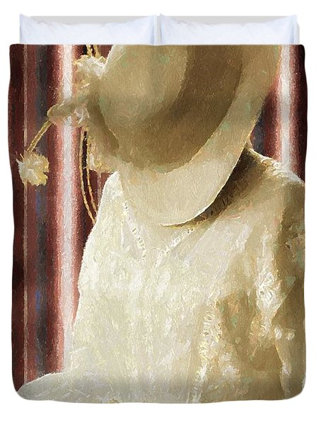 Waiting For Mr. Right Duvet Cover by RC deWinter