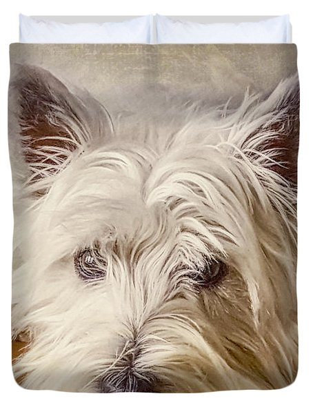 Waiting For Papa Duvet Cover by Jean OKeeffe Macro Abundance Art