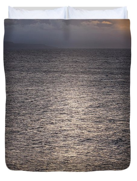 Waiting For The Last Wave Of The Day Duvet Cover