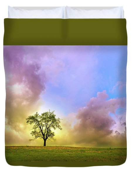 Waiting For The Storm Duvet Cover