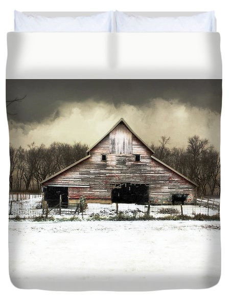 Duvet Cover featuring the photograph Waiting For The Storm To Pass by Julie Hamilton