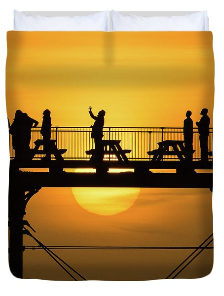 Waiting For The Sun Duvet Cover
