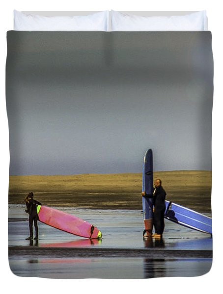 Waiting For The Surf Duvet Cover