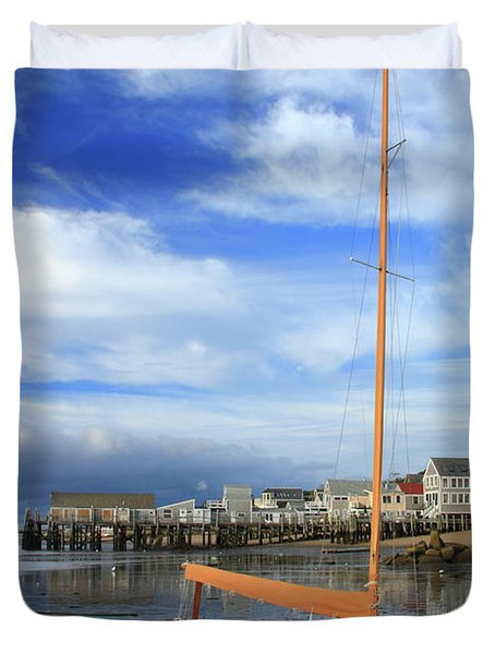 Duvet Cover featuring the photograph Waiting For The Tide by Roupen  Baker
