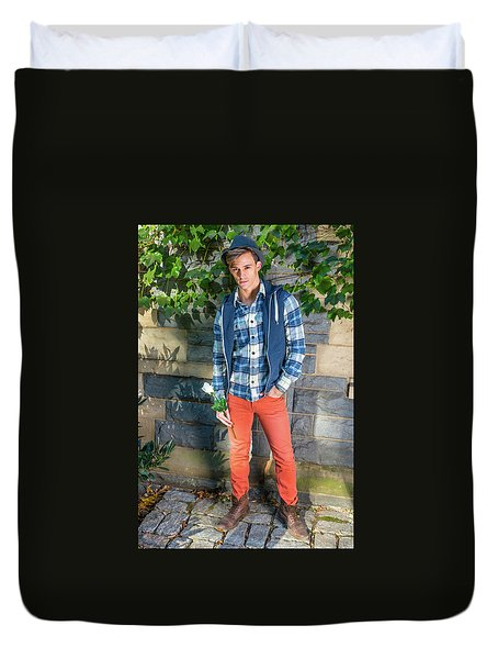Young Man Waiting For You Duvet Cover