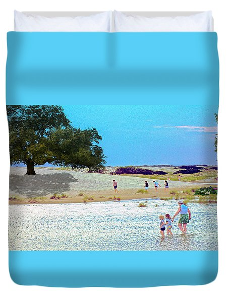 Waiting In The Water Duvet Cover